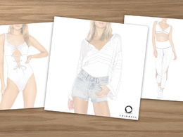 Create ONE exclusive fashion clothing design in black and white