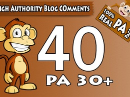 "Do 40 "" PA 30 to 70"" Dofollow Blog Comment"