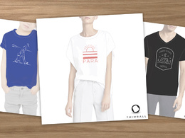 Create an exclusive minimal t-shirt graphic design