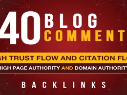 Do 40 Trust Flow Blog Comments Backlinks