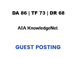 Publish a guest post on Network AIA - DA86, TF73, DR68