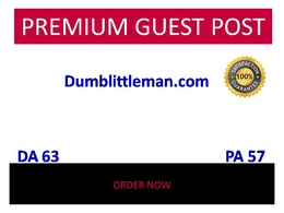 Publish guest post in Dumblittleman - Dumblittleman.com DA 63