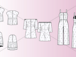 Create a fashion CAD technical flat drawing