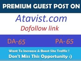 Publish guest post on Atavist.com Da- 65 with dofollow