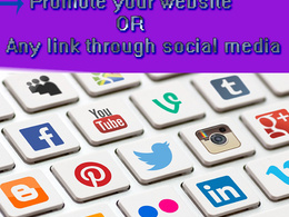 Promote your website or any link through social media