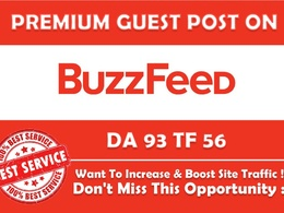 Write and publish an article on buzzfeed.com with permanent link