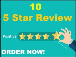 Added 10 company page 5 star reviews to rocket your SEO
