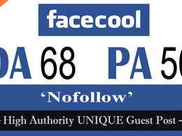 "Write and publish UNIQUE Guest Post on ""facecool"" DA-98"