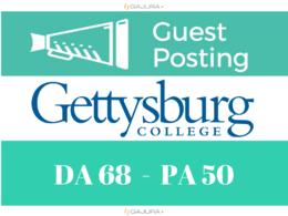 Publish a guest post on Educational Blog of Gettysburg DA 68