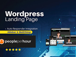 Create a responsive wordpress landing page for your business