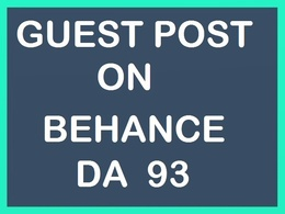 Write and publish a guest post on Behance DA 93 website