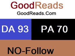 Publish a guest post on GoodReads.com DA 93 PA 70