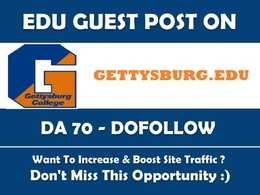 Dofollow Edu guest post on Gettysburg.edu DA73 Blog