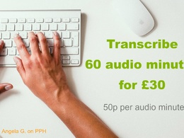Transcribe 60 minutes' audio (up to speakers)