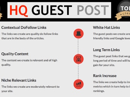 MUST HAVE: DA 50+ dofollow link, guest posting service OFFER!
