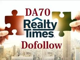 Publish Premium Guest Post On realtytimes.com DA 70 real estate