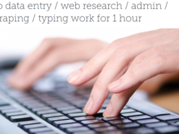 Do data entry, web research and data scraping for 1 hour