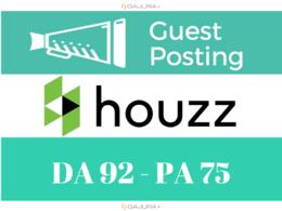 Write And Publish A Guest Post On Houzz Houzz.com DA 92