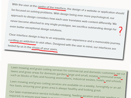 Review your website content for spelling and grammatical errors
