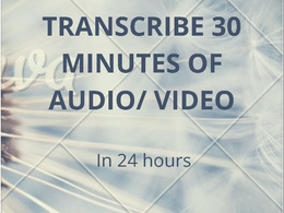 Transcribe 30 minutes of speech from an audio/ video file