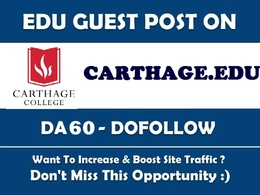 Guest post on carthage.edu DA60 Dofollow  Blog