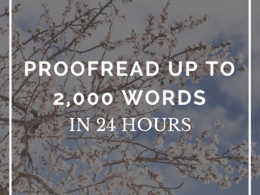 Proofread and edit up to 2,000 words