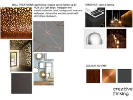 Create a concept design (incl mood board) for any interior/space