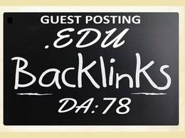 Write & publish .edu guest post on .edu domain site