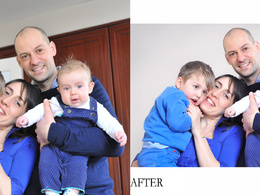 Professionally retouch and edit 2 images