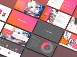 Create 5 branded Powerpoint layouts.