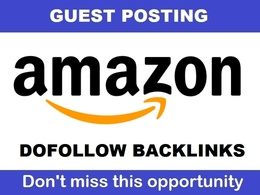 Write & Publish guest post on Amazon Amazon.com [Limited Offer]