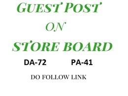 Do guest post on storeboard DA 72