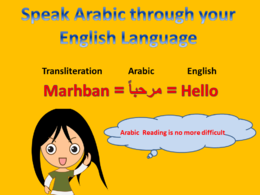 Provide Transliteration of 100  Arabic words through English