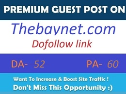 Publish guest on Thebaynet.com with dofollow link DA 52