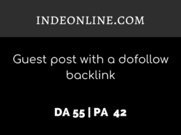 Publish a guest post on INDEONLINE.COM| DA55 | Dofollow