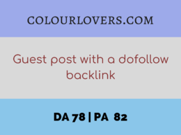 Guest post on COLOURLOVERS.COM with a dofollow backlink (DA 78)
