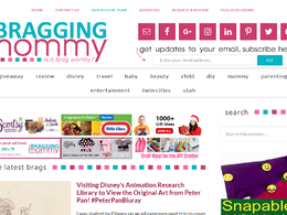 Guest post on Thebraggingmommy.com Family website – DA55