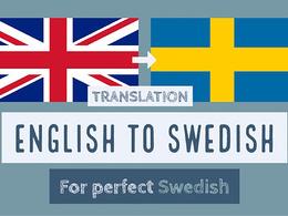 Translate 1,000 english words to perfect swedish