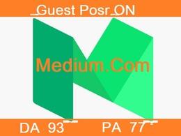 Write And Publish Guest Post On Medium.com DA 93