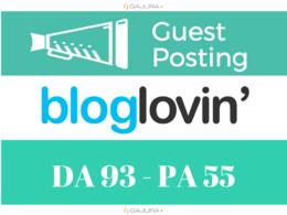 Do Blog Post on Authority Domain Bloglovin - Bloglovin.com DA 93