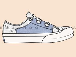 Create a shoe sketch