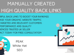 Increase SEO with manually created high quality link building