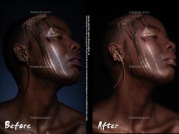 Create High quality Magazine Retouch on 1 studio image