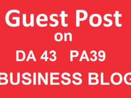 Do guest post on business blog DA 43