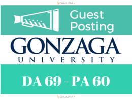 Get a DOFOLLOW link from a Blog Post on Gonzaga.edu DA 69
