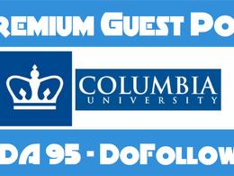 Guest Post on Columbia University Columbia.edu - DA95 Do-Follow