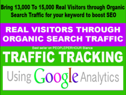 13K TO 15K REAL VISITORS THROUGH ORGANIC SEARCH TRAFFIC KEYWORD
