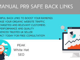 Manually create 20 PR9 safe back links to boost rankings and SEO