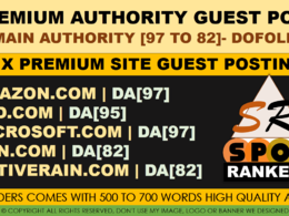 5 Premium Guest post DA [97 to 82] - DOFOLLOW SITES
