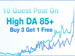 Write & Publish 10 Guest Post DA 85+ websites with Dofollow Link